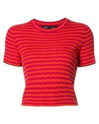 Proenza Schouler | Red Striped Knit Top | Lyst