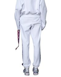 Vetements | Blue Champion Logo Tape Stretch-Cotton Sweatpants  | Lyst
