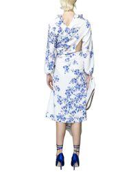 Vetements - Blue White Floral Dress - Lyst