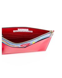 Olympia Le-Tan | Multicolor Smoking Lips Beaded Clutch | Lyst