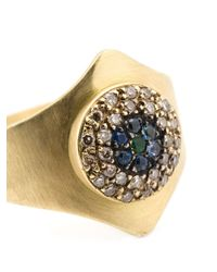 Ileana Makri | Metallic 'round Evil Eye Shield' Ring | Lyst