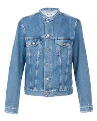 Acne Studios | Blue 'who Ind Frey' Distressed Denim Jacket for Men | Lyst