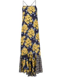 SUNO | Multicolor Floral Print Maxi Dress | Lyst