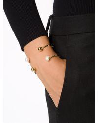 Nektar De Stagni - Metallic Pearl Detail Double Cuff - Lyst