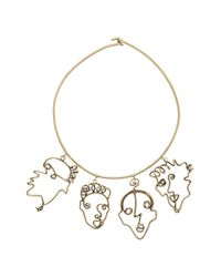 Rosie Assoulin | Metallic Four Faces Necklace | Lyst