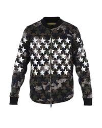 Valentino - Black Star Print Bomber Jacket for Men - Lyst