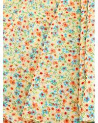 Saint Laurent - Multicolor Calico Print Scarf - Lyst