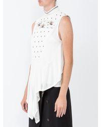 Chloé - White Embellished Broderie Turtleneck Top - Lyst