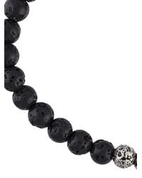 M. Cohen - Black Lava Stone Bead Bracelet for Men - Lyst
