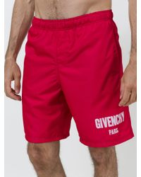 Givenchy - Red Logo Swimshorts for Men - Lyst