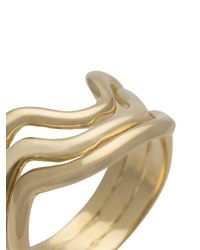 Aurelie Bidermann - Multicolor Wavy Ring - Lyst