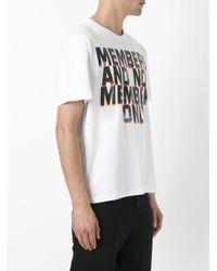 Stella McCartney - White Members Print T-shirt for Men - Lyst