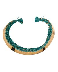 Aurelie Bidermann | Metallic Copacabana Braided Necklace | Lyst