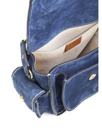 Chloé | Blue Jodie Suede Shoulder Bag | Lyst
