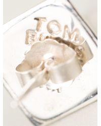 Tom Binns - White Pyramid Stud Earrings - Lyst