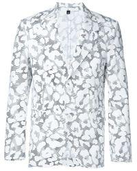 Neil Barrett - Gray Pattern Jacquard Blazer for Men - Lyst