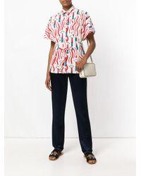 Valentino - Multicolor Lipstick Print Shirt - Lyst