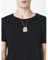 Maison Margiela - Multicolor Dog Tag Necklace for Men - Lyst