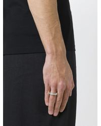 Maison Margiela - Metallic Embossed Logo Ring for Men - Lyst