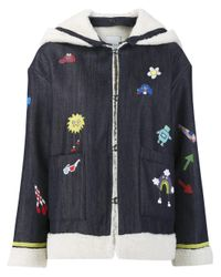 MIRA MIKATI - Blue 'play More' Denim Jacket - Lyst
