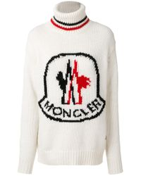 Moncler Gamme Rouge - Multicolor Wool Highneck Sweater - Lyst