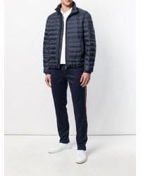 Moncler - Blue Side-stripe Track Trousers for Men - Lyst