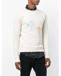 Saint Laurent - Multicolor Waiting From Sunset Sweatshirt for Men - Lyst