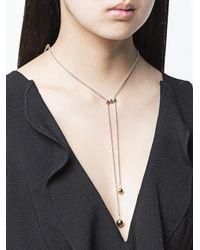 Eddie Borgo | Metallic Bolo Ball Chain Necklace | Lyst