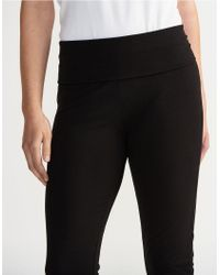 The White Company - Black Cropped Roll Top Trousers - Lyst