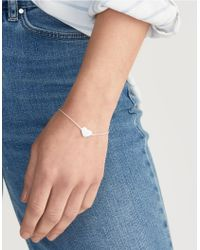 The White Company - Metallic Set Stone Friendship Bracelet - Lyst