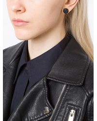 Henson - Black Carved Horn Earrings - Lyst