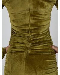 Neith Nyer - Green Slashed Shoulder O-ring Dress - Lyst