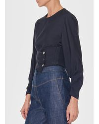 Tibi - Black Corset Cropped Top - Lyst