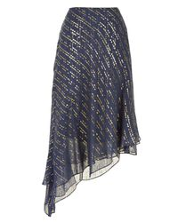 Tibi - Black Lurex Fil Coupe Draped Skirt - Lyst