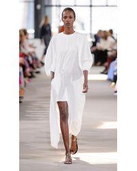 Tibi - White Asymmetrical Flap Front Dress - Lyst