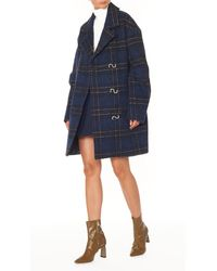 Tibi - Blue Dominic Plaid Oversized Coat - Lyst