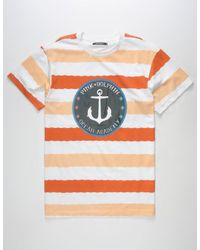 Pink Dolphin   Multicolor Wave Stripe Mens T-Shirt for Men   Lyst