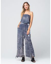 Free People | Gray Just Float Womens Jumpsuit | Lyst