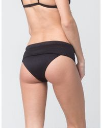 RVCA - Black Coast Side Bikini Bottoms - Lyst