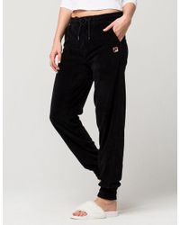 91634d4f Fila Jodi Womens Velour Jogger Pants in Black - Lyst