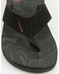 Volcom - Victor Sandal Men's Flip Flops / Sandals (shoes) In Black for Men - Lyst