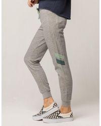 RVCA - Gray Go Easy Womens Sweatpants - Lyst