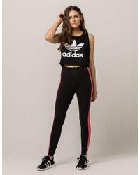 Adidas - Black Clrdo Mesh Womens Leggings - Lyst