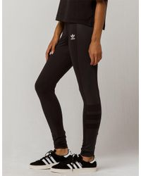 0dc0d1642ed65 adidas Tonal Side Panel Womens Leggings in Black - Lyst