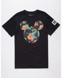 Neff - Black Disney Collection Astro Floral Mickey Mens T-Shirt for Men - Lyst