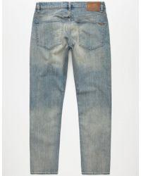 Volcom - Blue Solver Mens Modern Straight Jeans for Men - Lyst