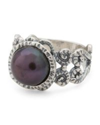 Tj Maxx - Metallic Made In Israel Sterling Silver Peacock Pearl Ring - Lyst