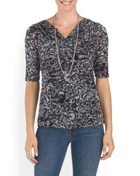 Tj Maxx - Gray Cowl Neck Fitted Top - Lyst