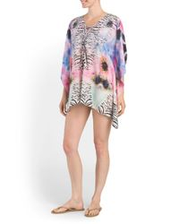 Tj Maxx - Multicolor Lace Up Cover-up Kaftan - Lyst