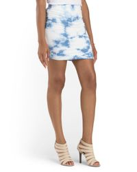 Tj Maxx - White Side Ruched Tie Dye Skirt - Lyst